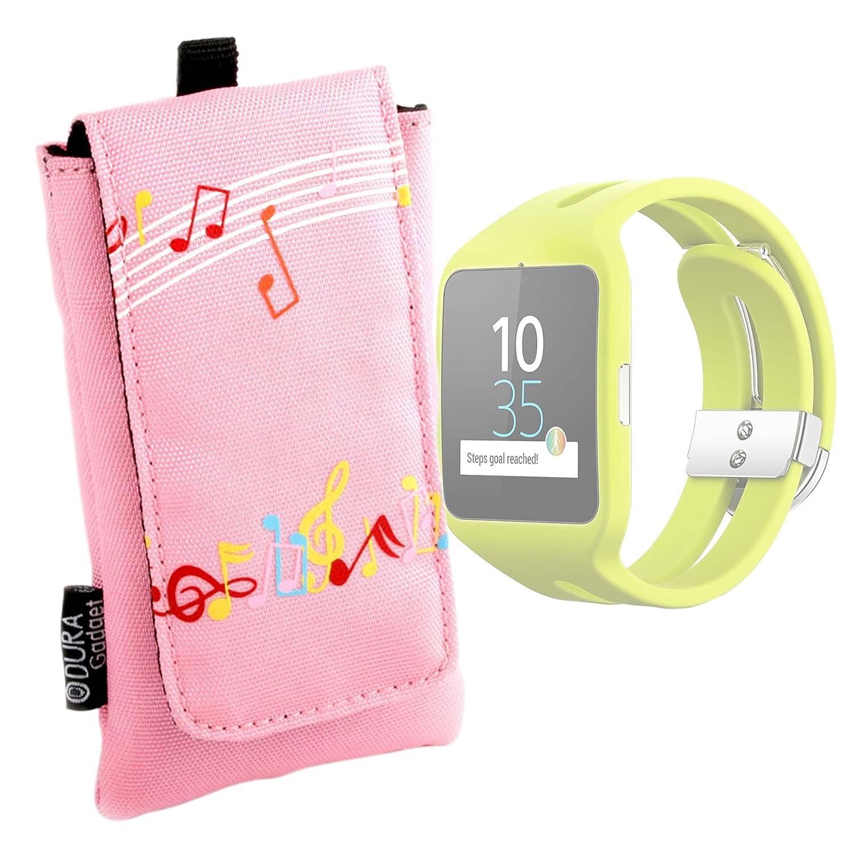 DURAGADGET Funda Acolchada Rosa para Reloj Sony Smartwatch 3 ...