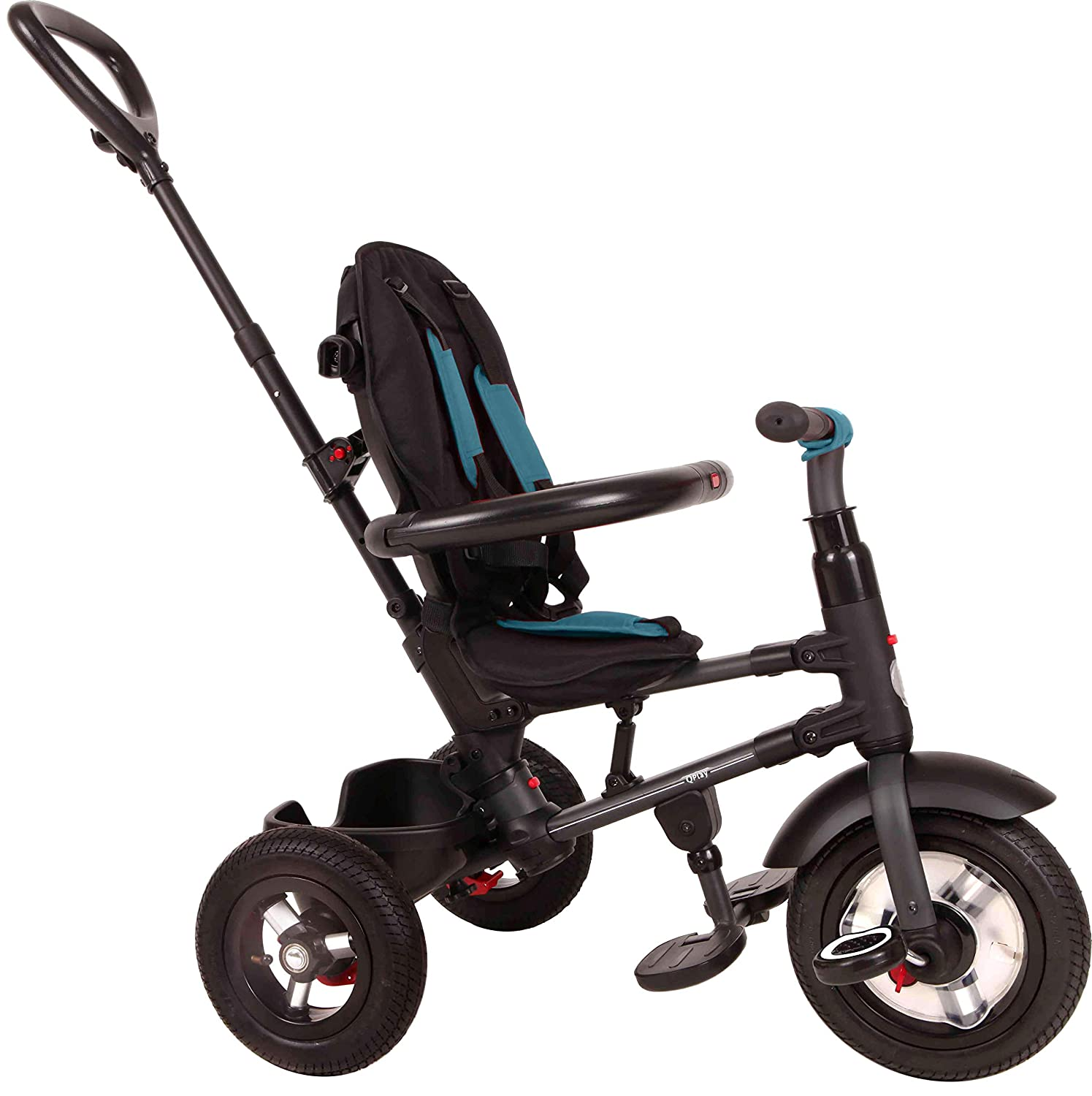 Rito Plus Air Tire Adjustable Compact Folding Trike Baby Stroller Black NEW
