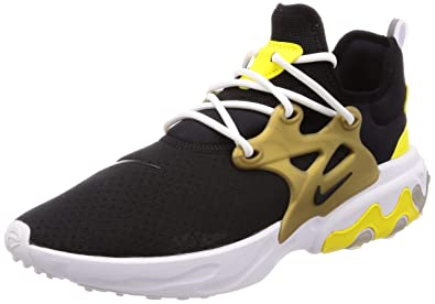 fdd8ec4f80678 Amazon.com | React Presto (Black/Black-Yellow Streak 7) | Fashion ...