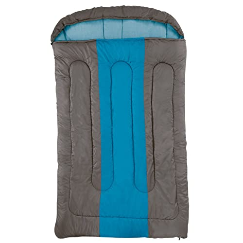 Coleman Sleeping Bag Hudson, Rectangular Sleeping Bag, Indoor & Outdoor, 2 Season, Warm Filling, for Adults