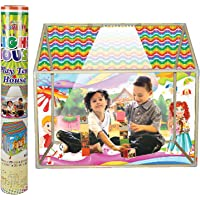 Archana Multicolor Kids LED Light Play Tent House with Wheels