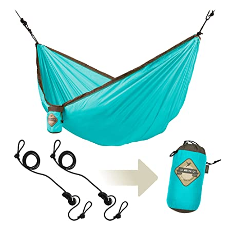 LA SIESTA Colibri – Parachute Silk Single Travel Hammock with Integrated Suspension