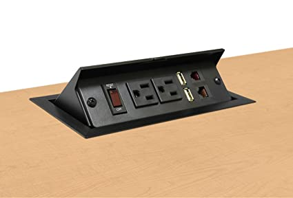 Amazoncom Pop Up Power And Data Station Electronics - Conference table data ports hdmi