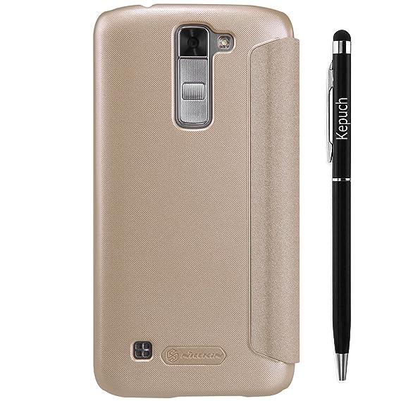 timeless design a178c 8651f Amazon.com: Kepuch LG K7 Flip Case - Ultra-thin Sparkle Leather Case ...