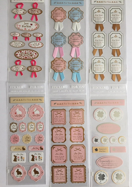 Novago 3 Hojas de pegatinas para decorar regalos sobres y art/ículos