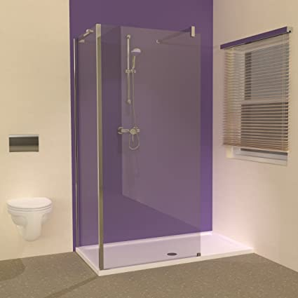 Line 1500 X 800 Shower Tray With L Shaped Walk In Screens Enclosure