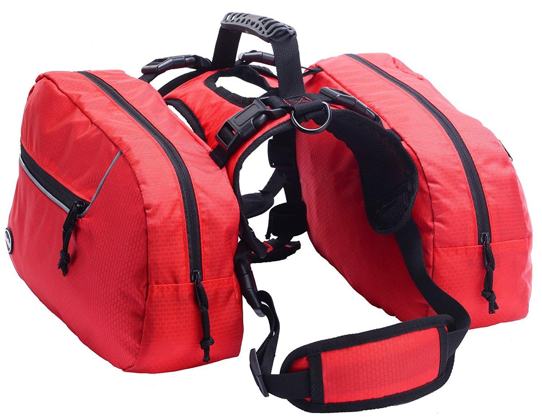 BINGPET Dog Harness Backpack Doggie Saddlebags