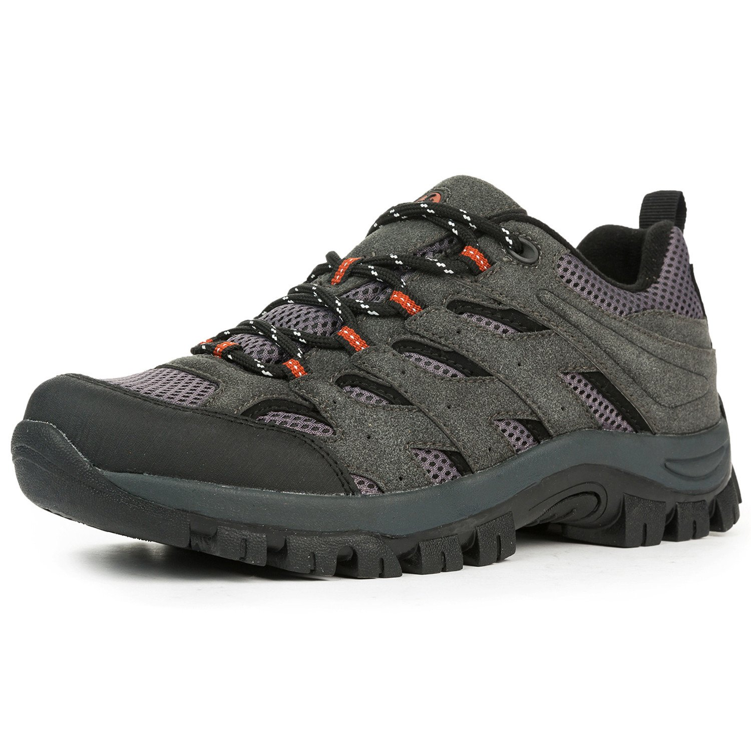 L-RUN Hiking Boots Mens Suede Outdoor Backpacking Shoes Grey 10 D(M) US