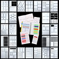 26 Pieces A5 Journal Stencils Plastic Planner Set DIY Templates Planner Weekly Layouts Bullet Dot Grid Journal Stencils…