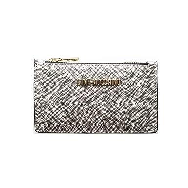 a basso prezzo 27528 8addf Moschino Love Portamonete E Carte Argento, UNICA, argento ...