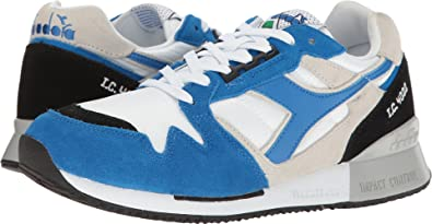 03789d5b0 Amazon.com | Diadora Unisex I.C 4000 NYL II White/Princess Blue/Black 13  Women / 11.5 Men M US Medium | Tennis & Racquet Sports