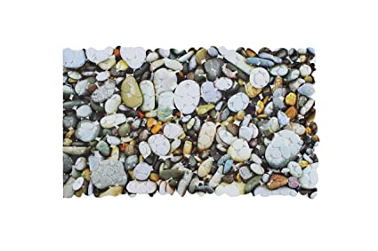 Bañera Alfombrilla De Ducha Alfombrilla De Ducha Con 4 Impresión Diseño Rose Conchas Piedra De Impresión Y Gotas De Agua 53 X 53 Cm Y 70 X 36 Cm De