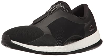 detailed look 112b9 767ce adidas Women s Pure Boost X TR Zip Cross-Trainer Shoes, White Black,