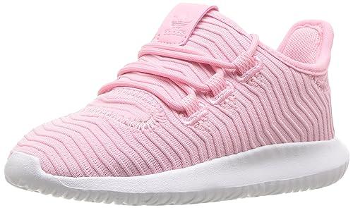 new styles b053c 2b302 adidas Originals Unisex Tubular Shadow Light Pink White, 7 M US Big Kid
