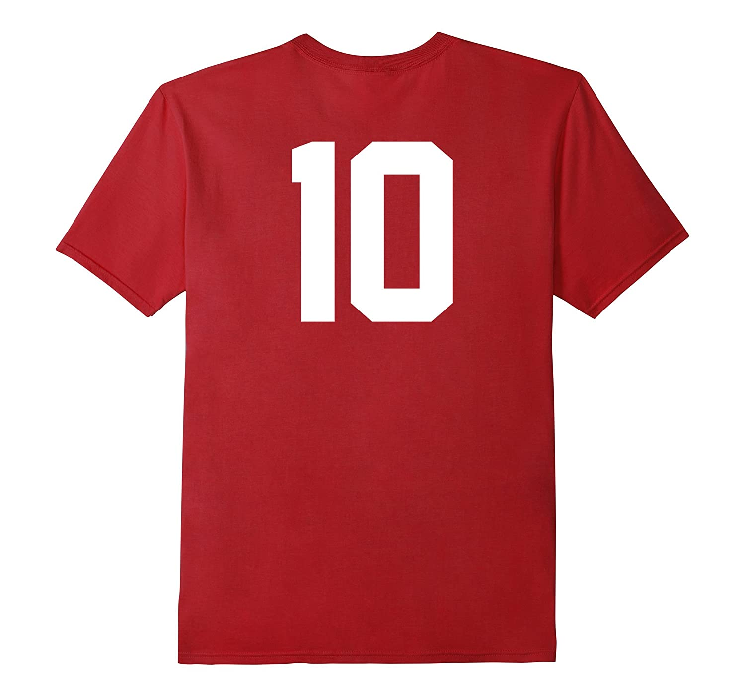 10 Sports Jersey Number on Back T-Shirt for Team Fan Player-FL
