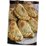 3dRose Argentina, Empanadas, Cuisine, Sa01 Bja0033, Jaynes Gallery Towel, Blanco,
