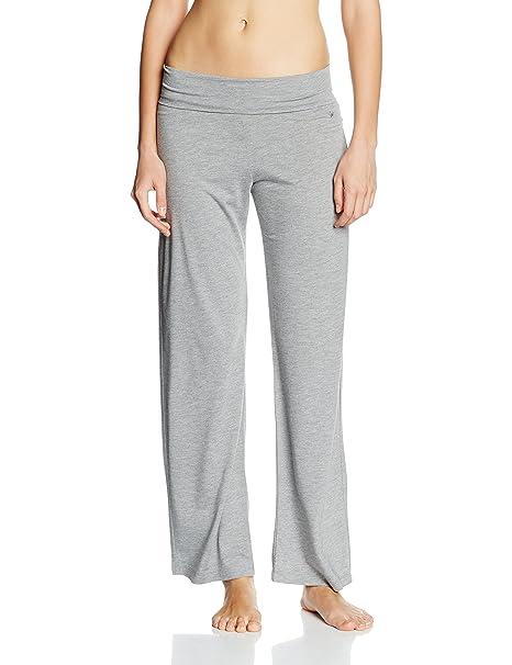 Triumph M&M AW16 Trousers Palazzo - Pantalones de pijama para mujer, color gris (dark