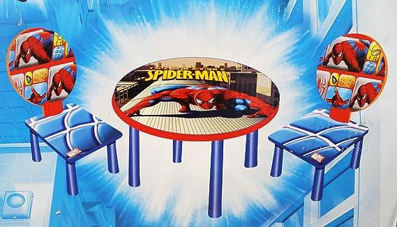 The Amazing Spider-Man - Juego de Mesa y sillas para niños (2 sillas, 1 Mesa): Amazon.es: Juguetes y juegos