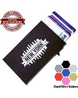 Card Blocr Credit Card Holder Mens or Womens | Best Minimalist Wallet | Slim RFID Blocking Front Pocket Wallet Design