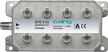 Axing BVE 8-02 - Distribuidor de antena (8 salidas, 5-1000 MHz)