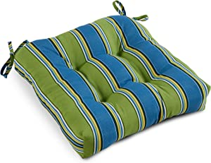 South Pine Porch AM4800-Cayman Cayman Stripe Outdoor 20-inch Seat Cushion