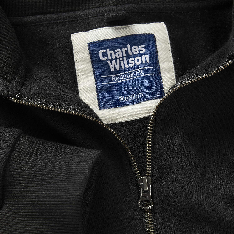Charles Wilson Sudadera con Cremallera Completa con Capucha Peso Intermedio
