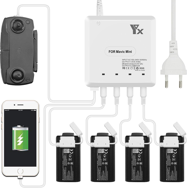 TUTUO Intelligente Caricabatterie Charger per Mavic Mini, 6
