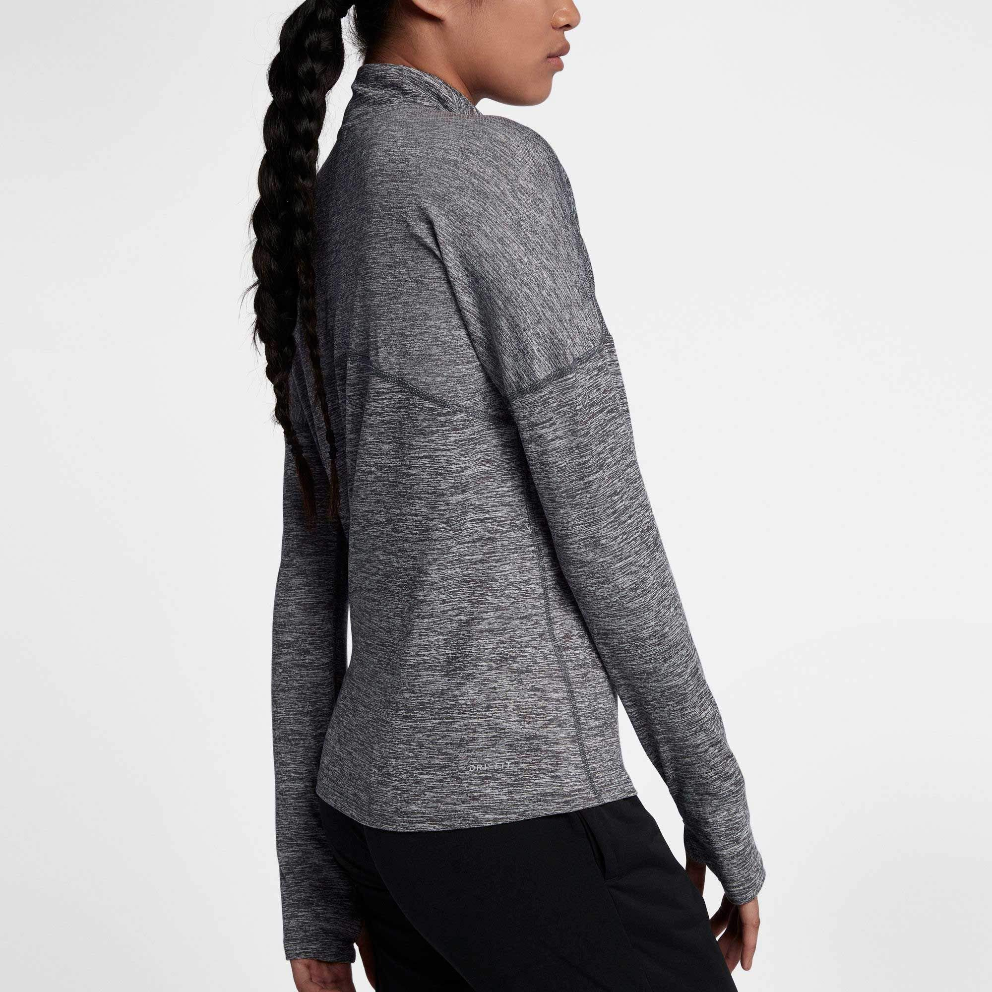 Nike Women's Dry Element Half Zip Top (X-Small, Dark Grey/HTR) by Nike (Image #2)