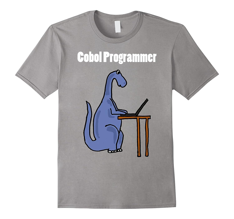cute funny cobol programmer dinosaur t