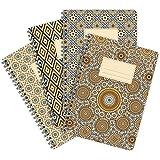 Etmamu 522 lot de 4 carnets couverture à motif maroc 60 pages lignées de format a5
