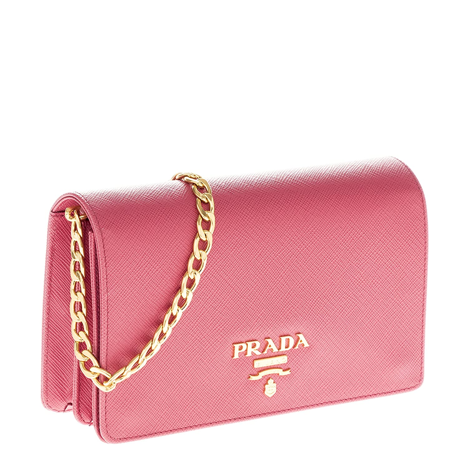 ec4122a37ae9 Prada Saffiano Lux Chain Crossbody Bag Pink  Handbags  Amazon.com