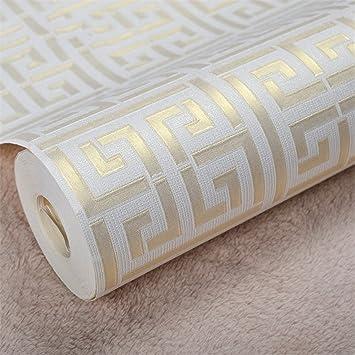 Grec Cle Structure Or Blanc Papier Peint Moderne Geometrique