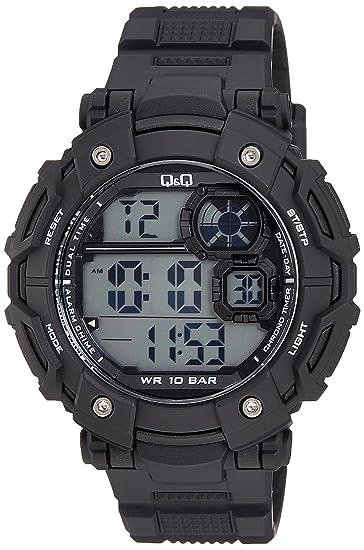 Q&Q con Correa de Resina M150J003Y Reloj Digital de los Hombres