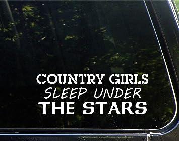 Die Cut Decal Bumper Sticker for Windows Trucks Country Girl White Etc. 6 Cars Laptops