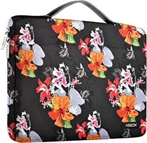 """Hseok Laptop Sleeve 13-13.5 Inch Case Briefcase, Compatible All Model of 13.3 Inch MacBook Air/Pro, XPS 13, Surface Book 13.5"""" Spill-Resistant Handbag for Most 13""""-13.5"""" Notebooks, Morning Glory"""