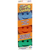 Scrub Daddy Colors- FlexTexture Sponge, Color Code Cleaning, Soft in Warm Water, Firm in Cold, Deep Cleaning, Dishwasher Safe, Multi-use, Scratch Free, Odor Resistant, Ergonomic- 3ct