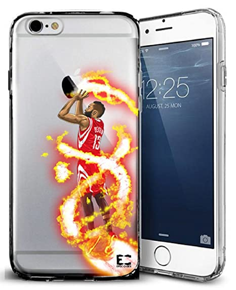brand new 65196 3412d Epic Cases iPhone 6 Plus Case, for Apple iPhone, Ultra Slim Transparent  Dominate the Basketball Court Series - Fear the Beard Harden, Clear Sports  ...