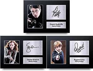 HWC Trading Foto impresa de Harry Potter con autógrafo de regalo A4 firmada A4, sin marco, para regalos