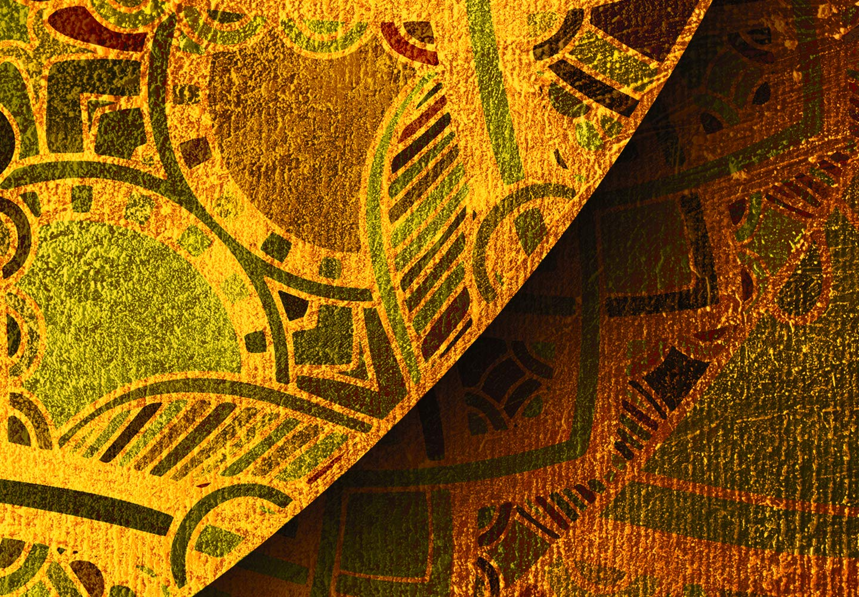 murando Raumteiler /& Pinnwand Foto Paravent Mandala 135x172 cm beidseitig auf Vlies-Leinwand Bedruckt Trennwand Spanische Wand Sichtschutz Raumtrenner Zen f-A-0659-z-b