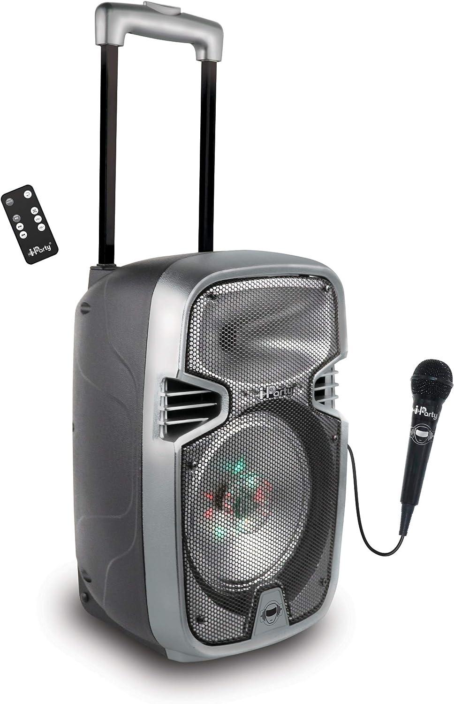 Lexibook Iparty - Altavoz Luminoso Bluetooth con Asa y Ruedas ...
