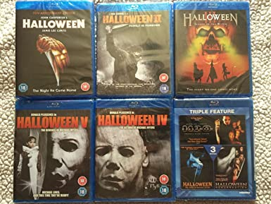 Halloween Blu Ray Box Set.Halloween The Complete Collection 1 8 2016 Region Free Amazon Co Uk