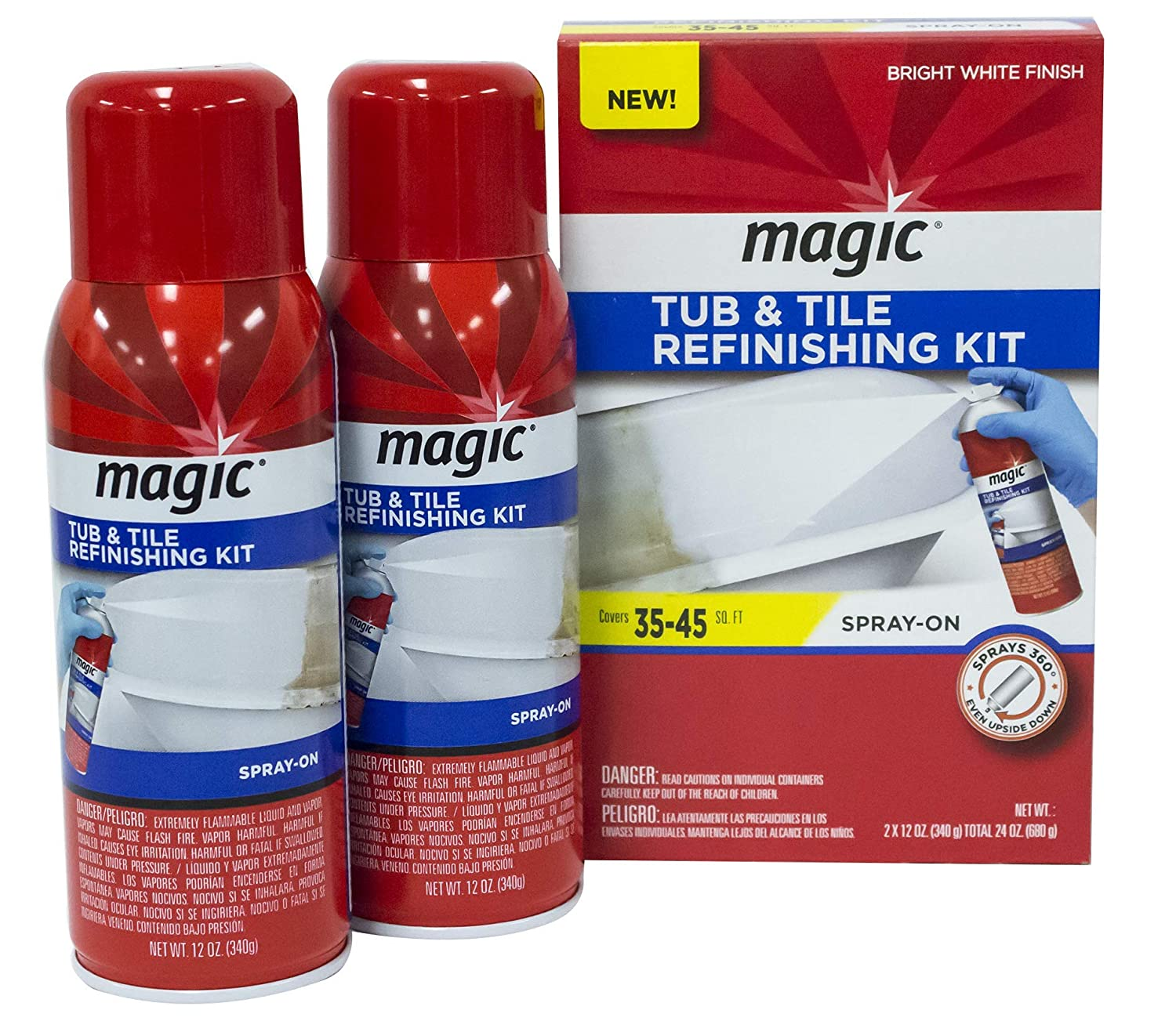 2. Magic Tub and Tile Refinishing Kit (Bright White) Spray on Aerosol