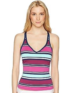 5c8140cee9 JAG Women's Ombre Stripe Multi-Strap Back Tankini at Amazon Women's ...