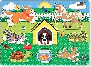 Melissa & Doug Pets Wooden Peg Puzzle (8 pcs)