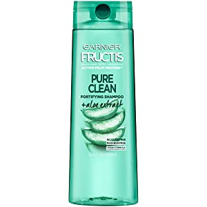 Garnier Fructis Pure Clean Shampoo, Paraben-Free Silicone-Free with Aloe Extract and Vitamin E, 12.5 Ounce Bottle