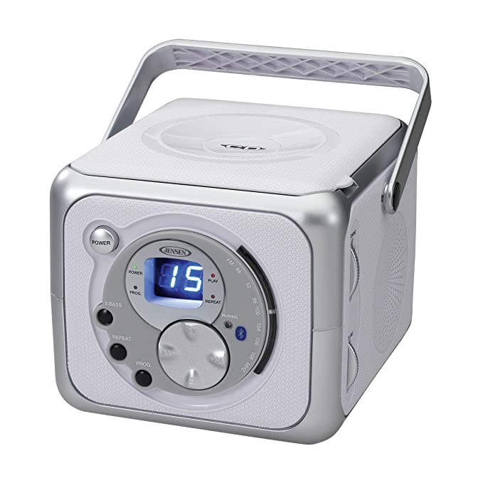 Review Jensen CD-555 White/Silver CD