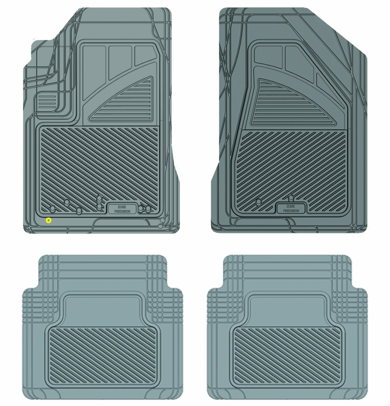 Koolatron Pants Saver Custom Fit 4 Piece All Weather Car Mat Grey