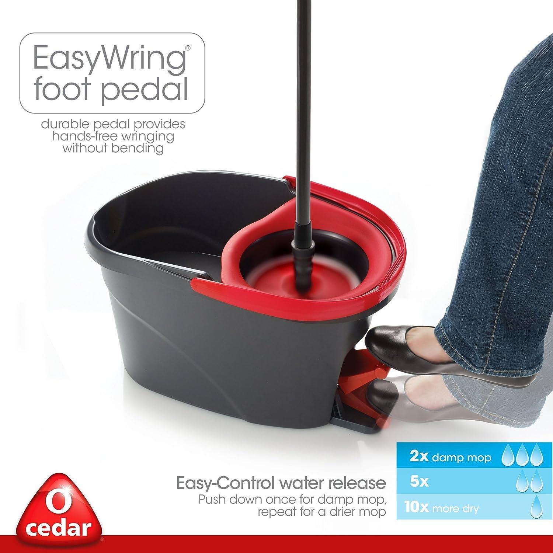 O Cedar Easywring Microfiber Spin Mop And Bucket Floor