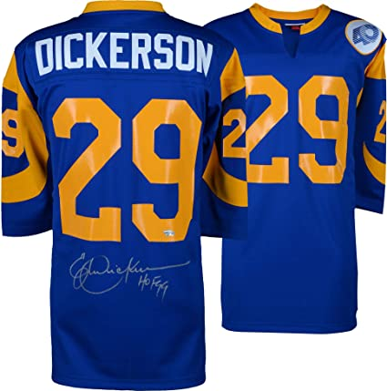 buy popular efd99 f5b2f Eric Dickerson Los Angeles Rams Autographed 1985 Throwback ...