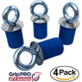 Polaris Lock & Ride ATV Tie Down Anchors for Sportsman, RZR and Ace - Set of 4 Lock and Ride Type Anchors by GripPRO ATV Anchors